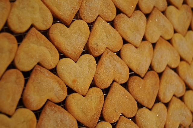 maizena, biscotti cuore