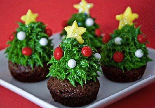 Dolci Natalizi Coreografici.Alberi Di Natale Brownies La Ricetta Golosa Con Nutella E Fragole