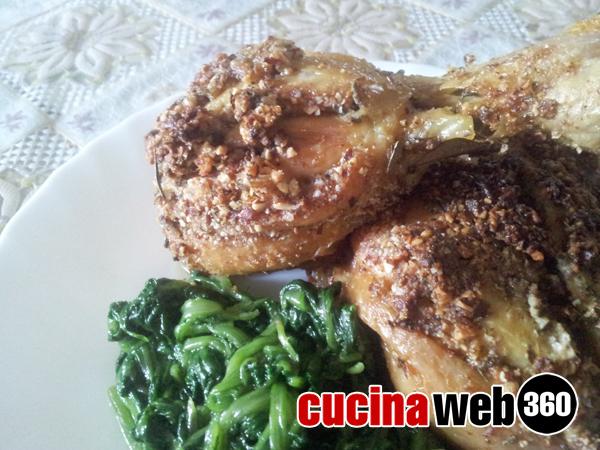 Pollo in crosta di mandorle