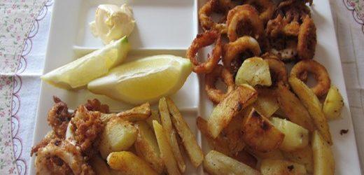 Calamari fritti con patate