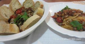 zuppa di maruzzelle e pasta con maruzzelle