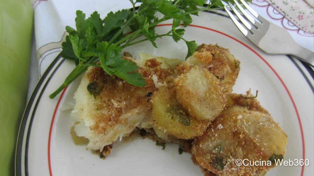 ricetta baccalà con patate al forno
