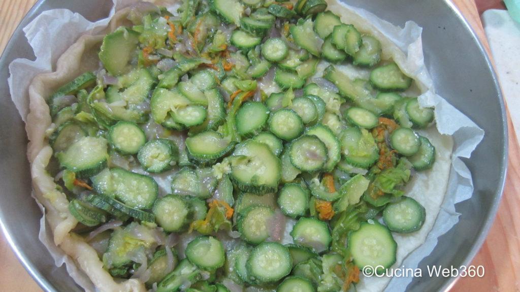 Torta di zucchine e fiori: preparazione
