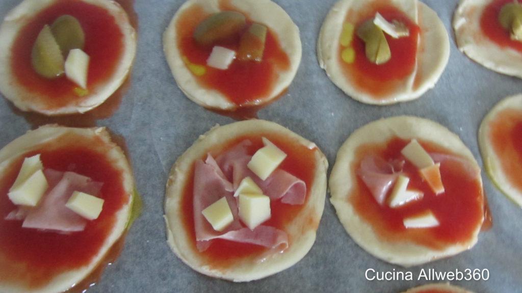 Pizzette da buffet, rustici per compleanni