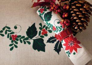tovaglioli e portatovagliali per la tavola di Natale