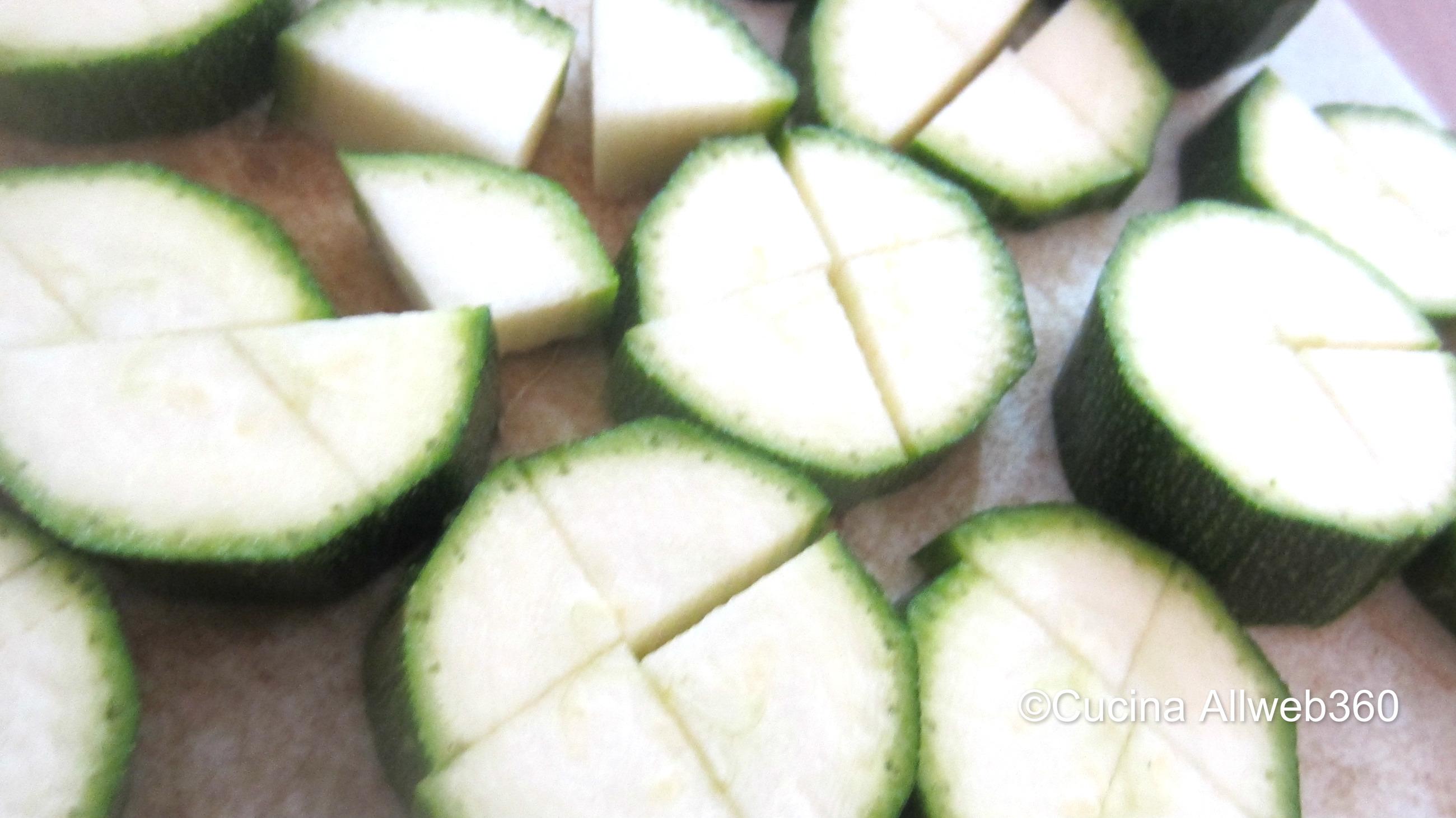 Zucchine per il risotto all'ortolana