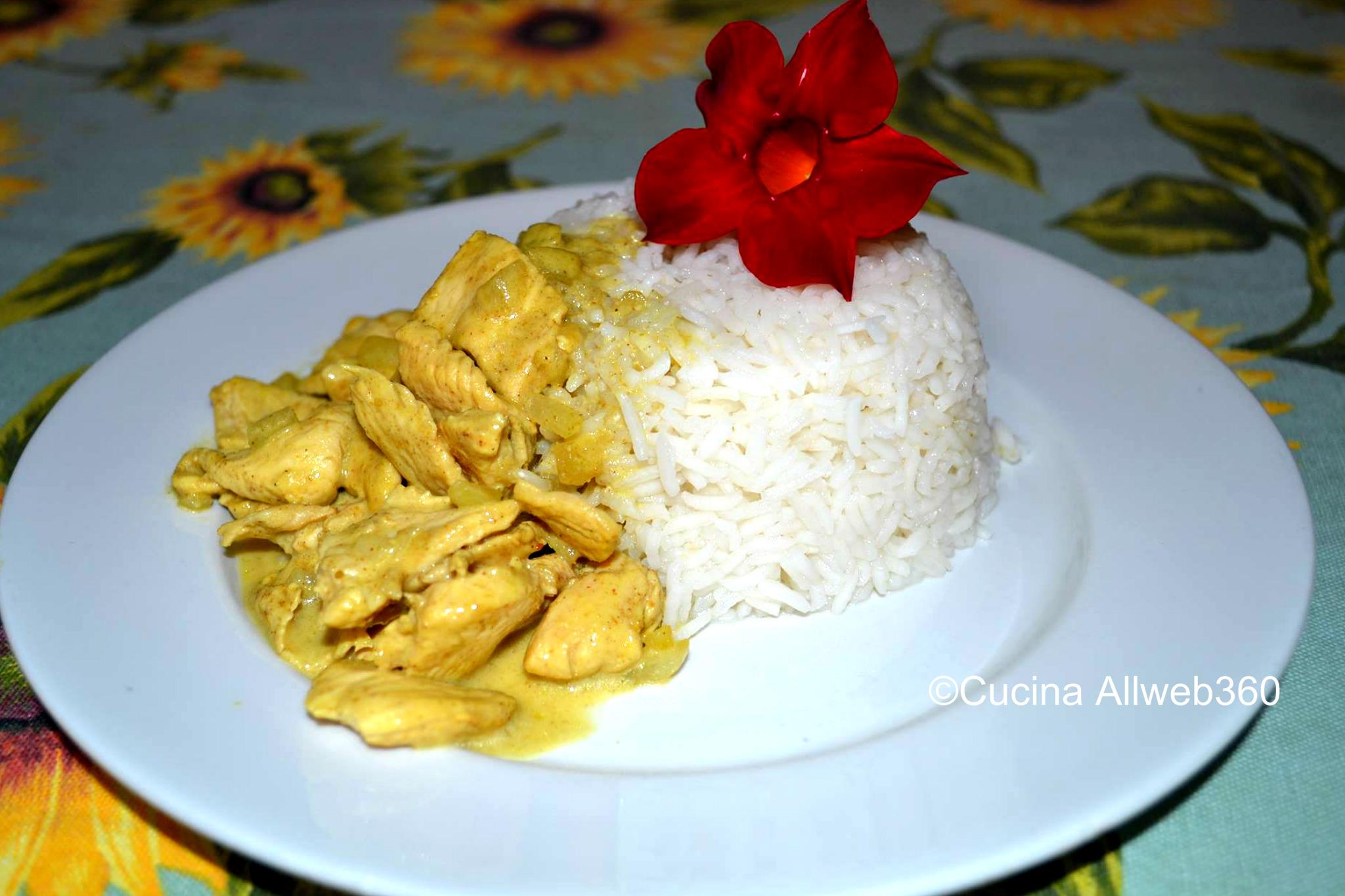 Ricetta con latte di cocco - Pollo al curry