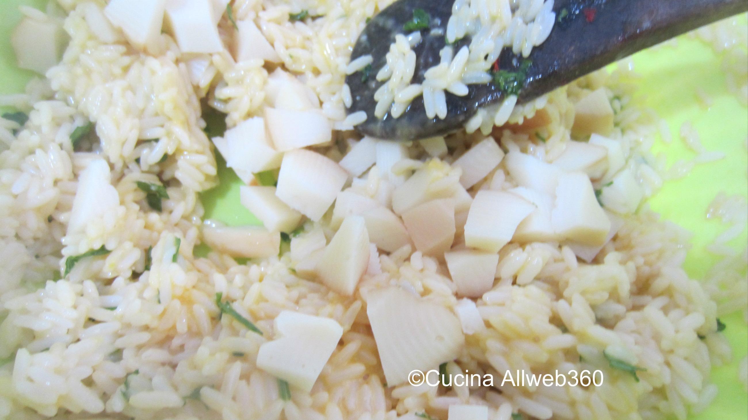 risotto al forno con salumi e formaggio