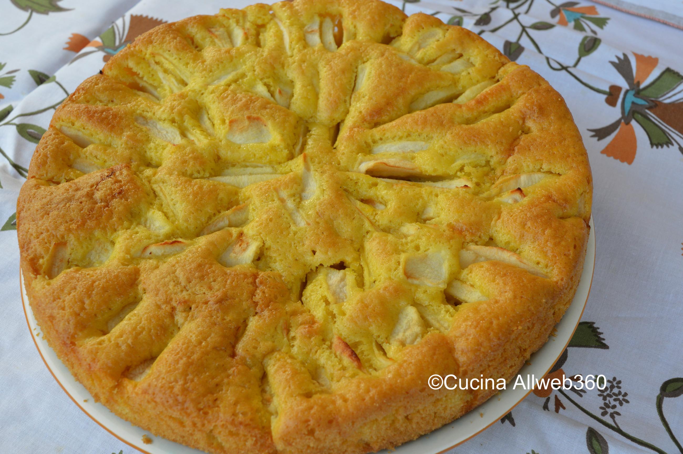 torta di mele con olio