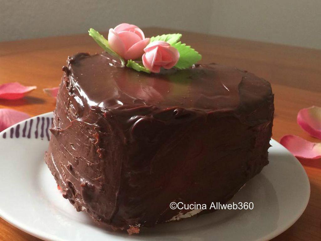 torta san valentino cuore di cioccolato