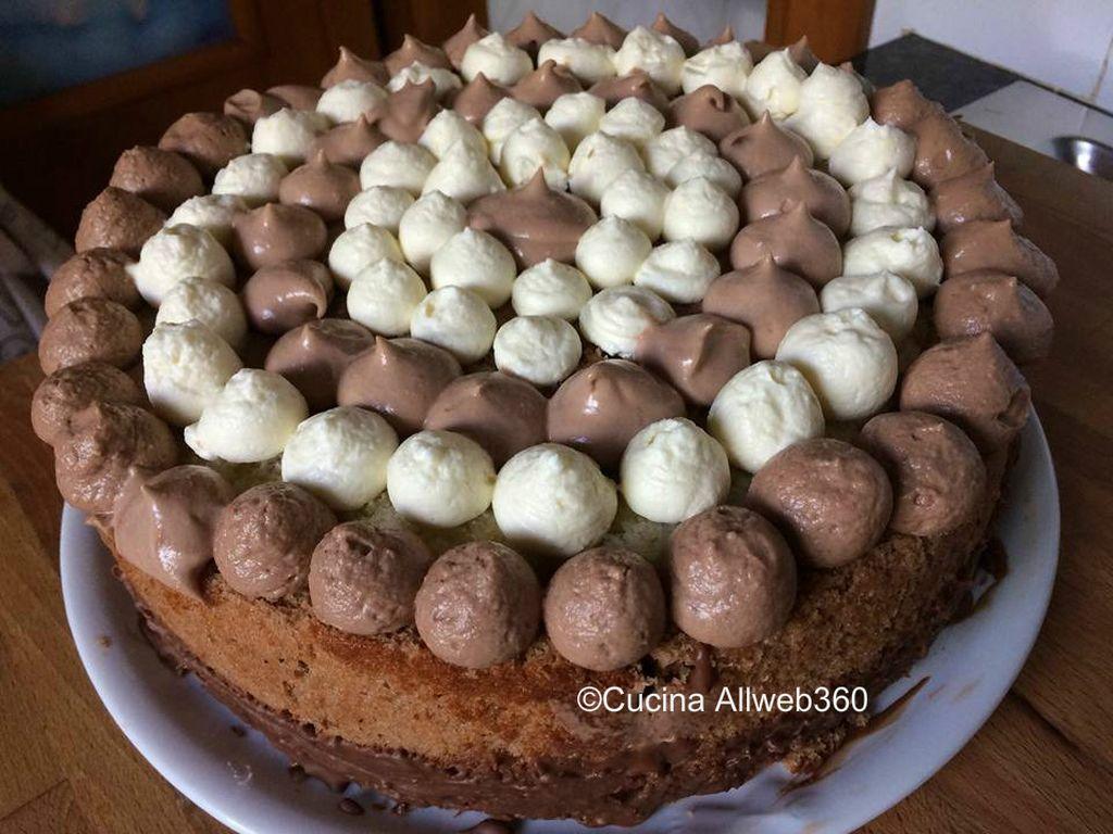 torta girella yogurt e cioccolato