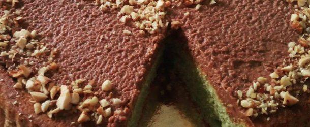 Torta al pistacchio e nutella