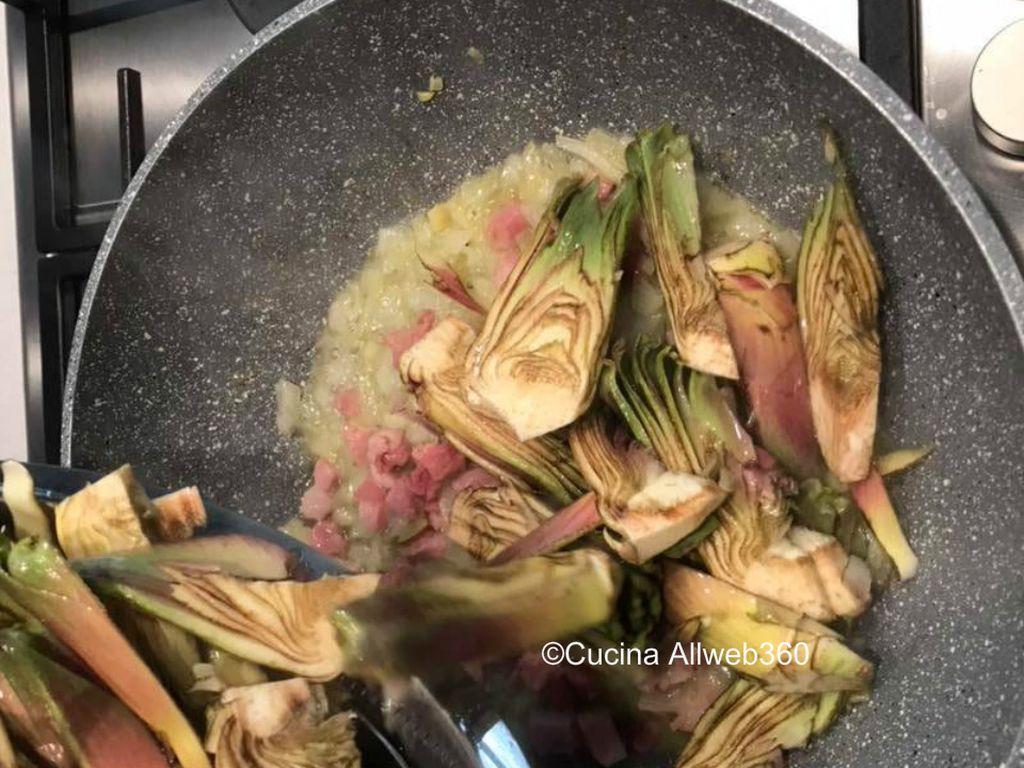 carbonara di carciofi ricetta