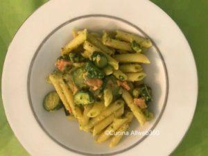 pasta zucchine salmone affumicato