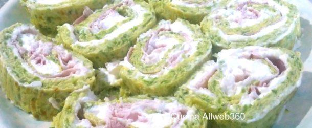 Rotolo di frittata alle zucchine