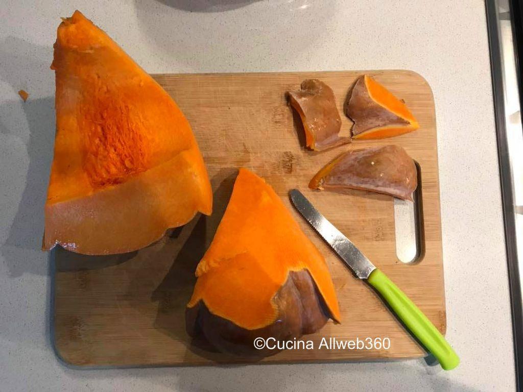 risotto con la zucca e gorgonzola