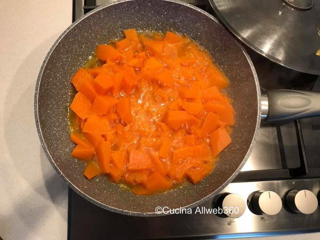 risotto al gorgonzola e zucca