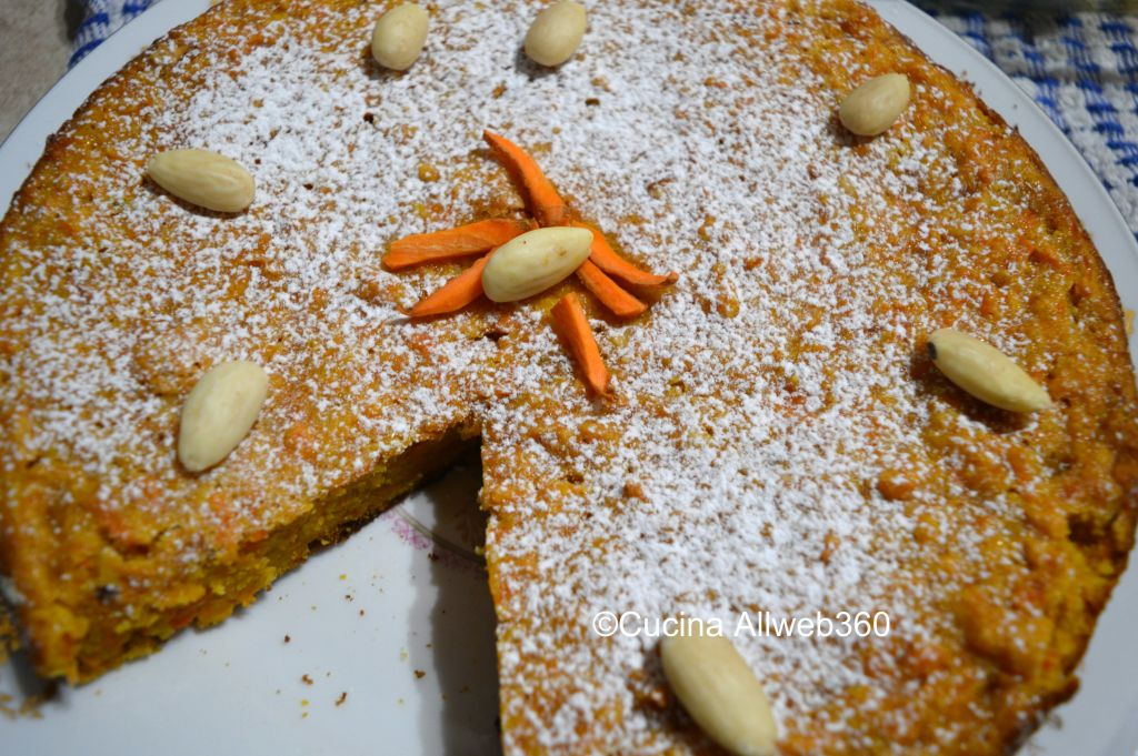 torta carote senza burro