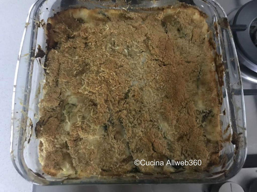parmigiana di zucchine bianco