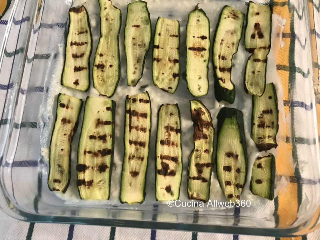 lasagna di zucchine in bianco