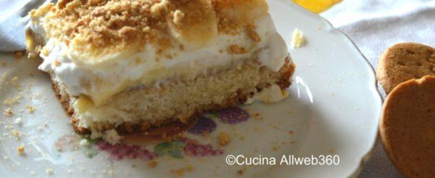 Torta di banane e crema pasticcera (cream pie)