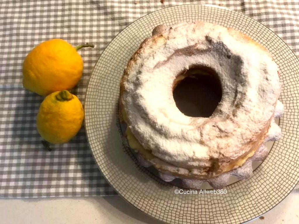 ciambella con crema al limone