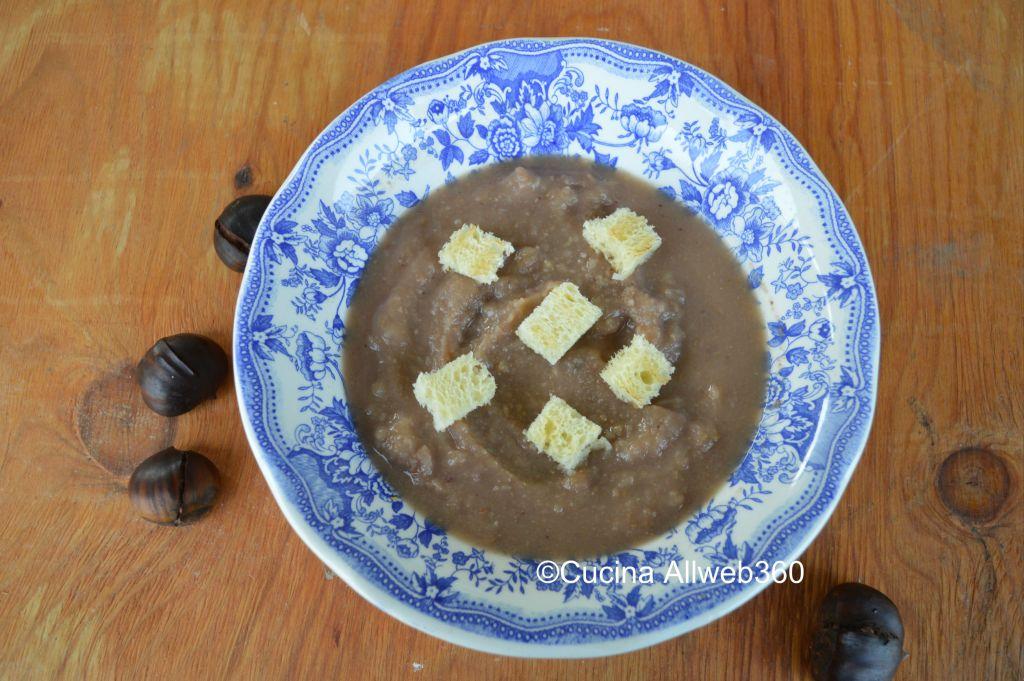 minestra di castagne fresche