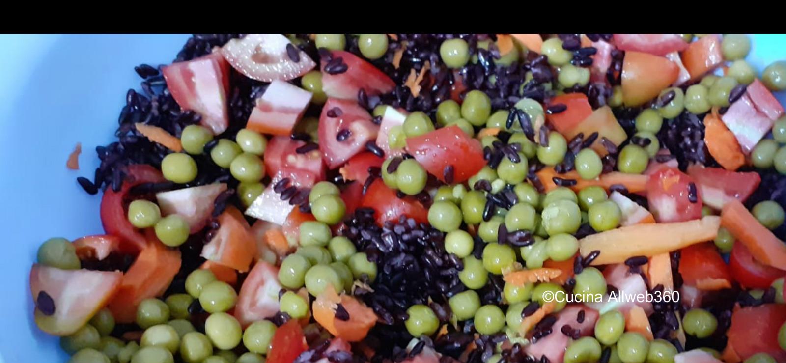 insalate con riso venere