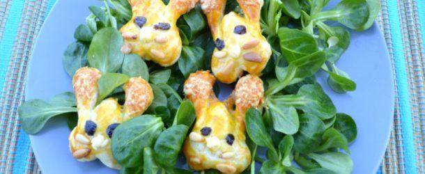 Conigli di pasta sfoglia