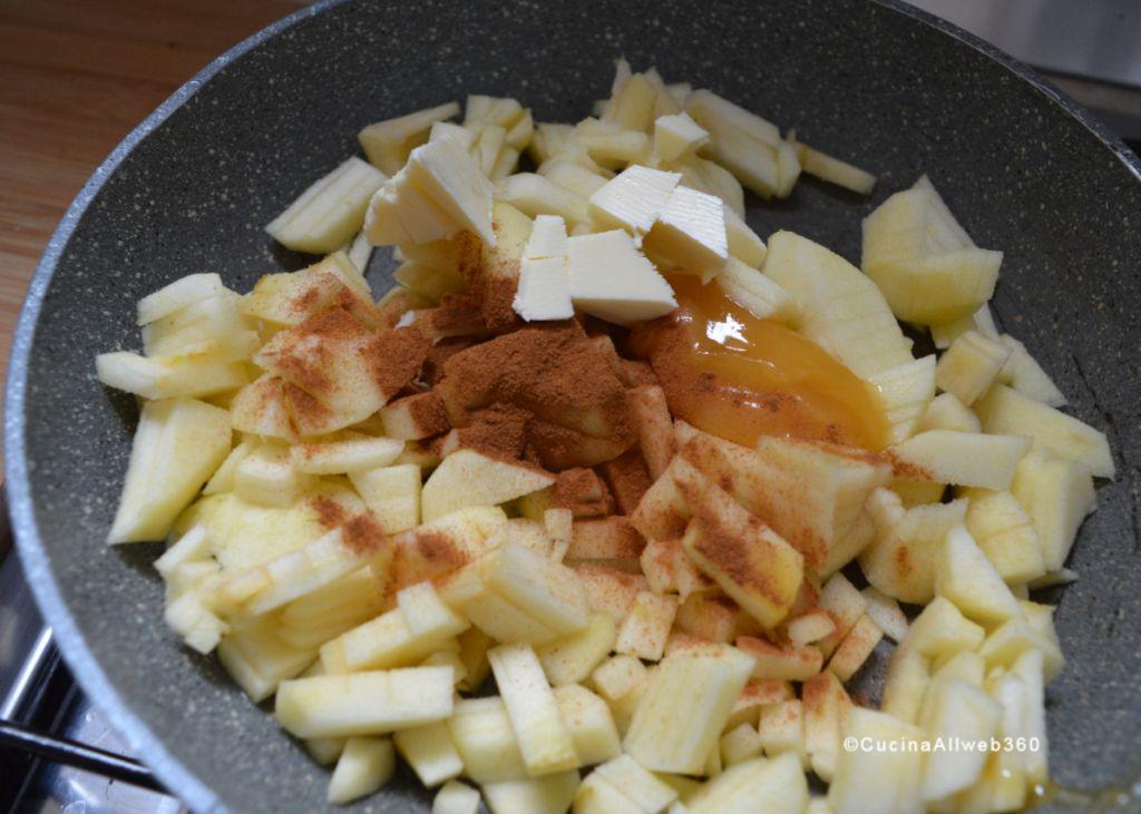 biscotti con ripieno di mele