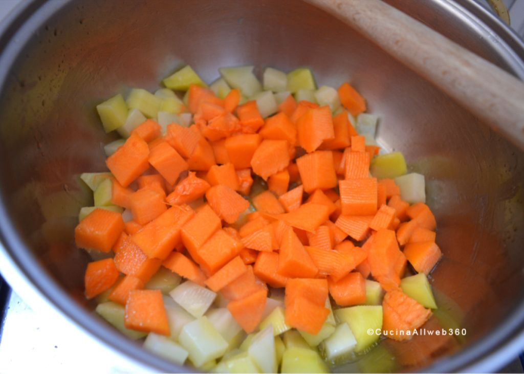 minestra zucca e patate