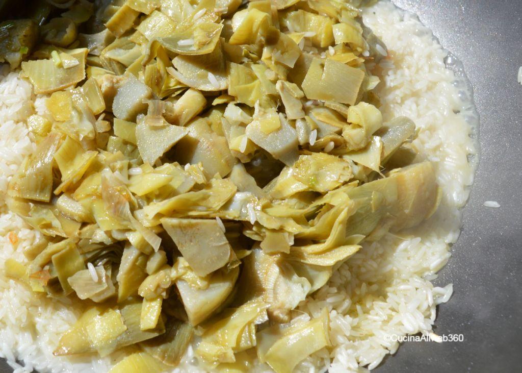 carciofi risotto