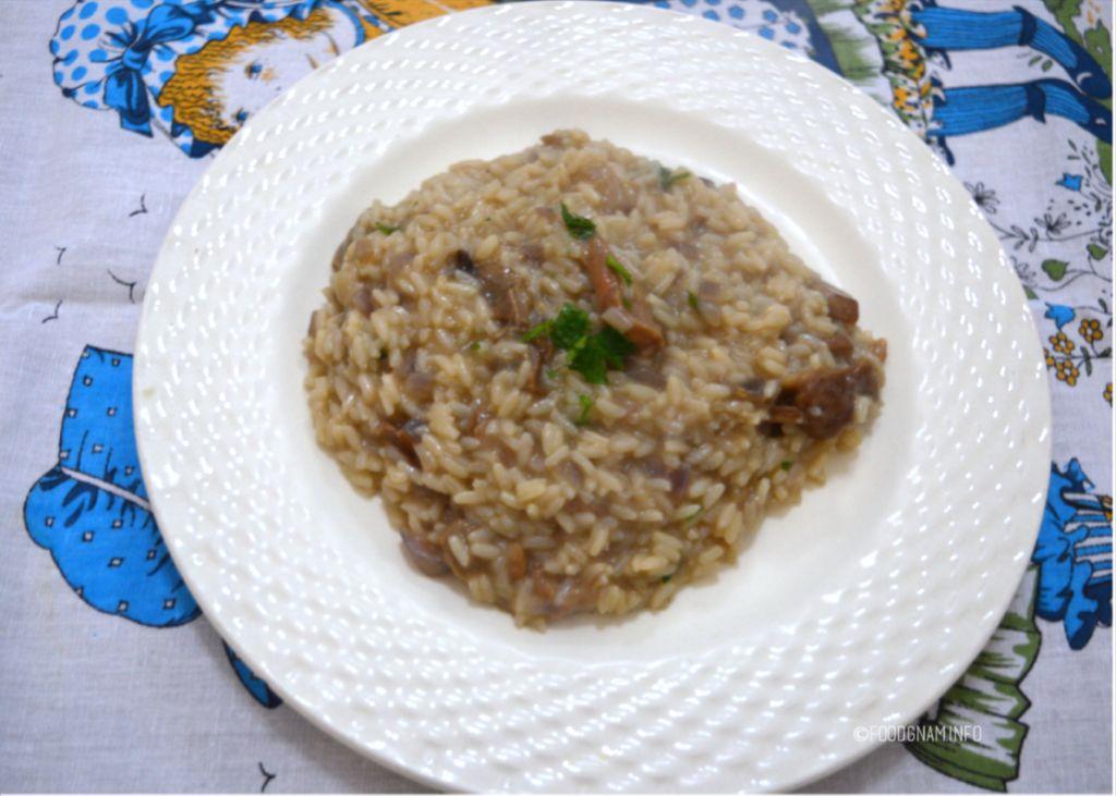 risotto con porcini secchi