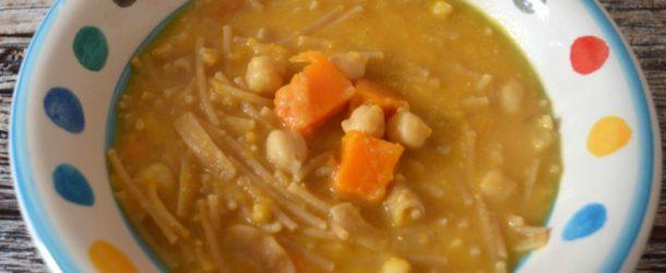 Zuppa zucca e ceci