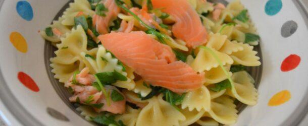 Pasta salmone e rucola