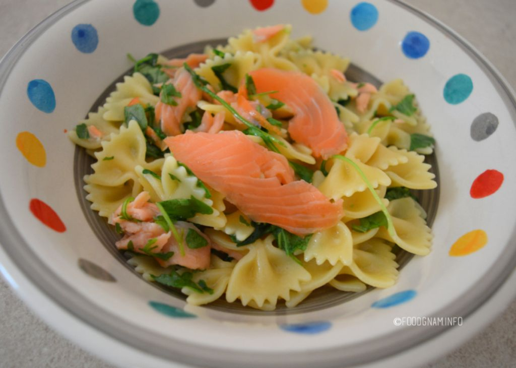 pasta con salmone e rucola