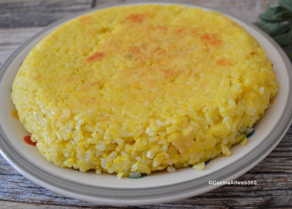 frittata di riso avanzato