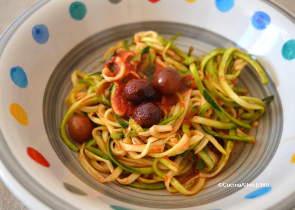 spaghetti di zucchine ricette