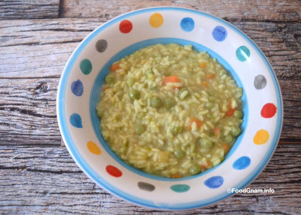 risotto con i piselli e curry