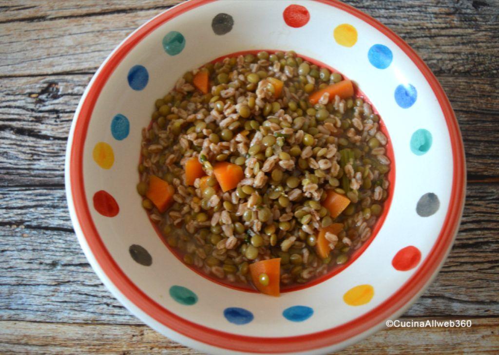 zuppa lenticchie e farro